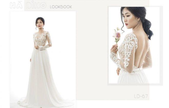 Với những cô nàng có vóc dáng nhỏ nhắn... Váy cưới ngắn trên đầu gối là lựa chọn thích hợp. Đây chính là bí quyết chọn váy cưới cho cô dâu nấm lùn. Váy cưới